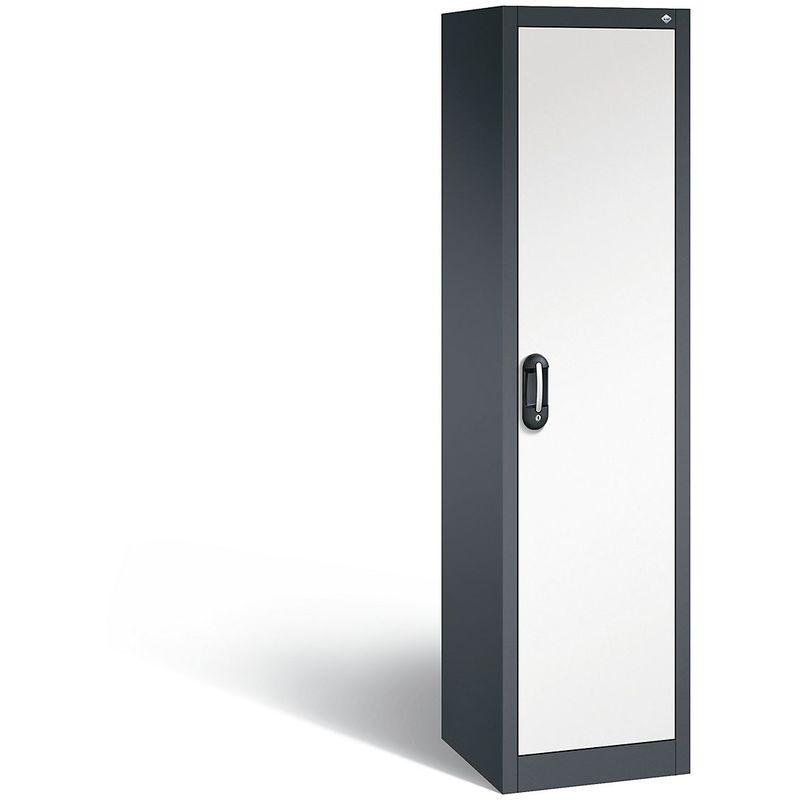 Certeo - CP Armoire de bureau ACURADO, l x p 500 x 500 mm gris noir / blanc pur - Coloris corps: noir-gris RAL 7021