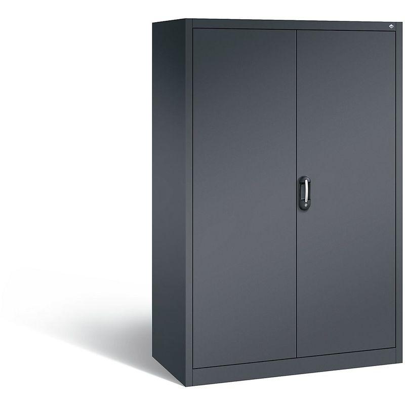 Certeo - CP Armoire de bureau ACURADO, l x p 1200 x 600 mm gris noir / gris noir - Coloris corps: noir-gris RAL 7021