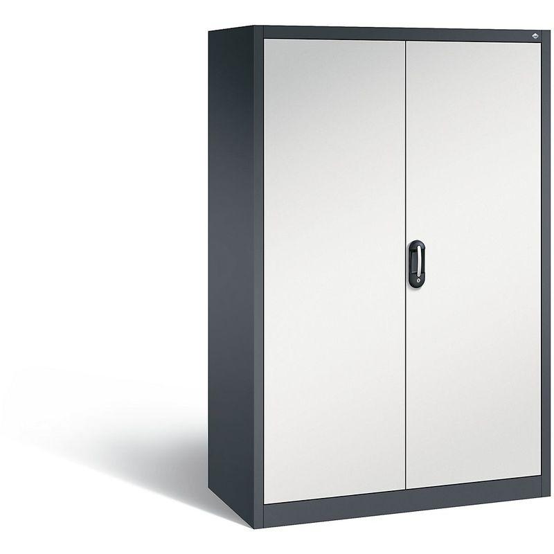 Certeo - CP Armoire de bureau ACURADO, l x p 1200 x 600 mm gris noir / gris clair - Coloris corps: noir-gris RAL 7021