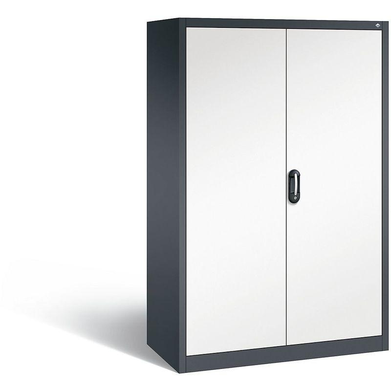 Certeo - CP Armoire de bureau ACURADO, l x p 1200 x 600 mm gris noir / blanc pur - Coloris corps: noir-gris RAL 7021