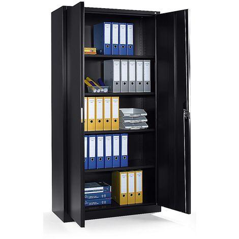 CP Armoire métallique à portes battantes, h x l x p 1980 x 1000 x 420 mm ivoire clair
