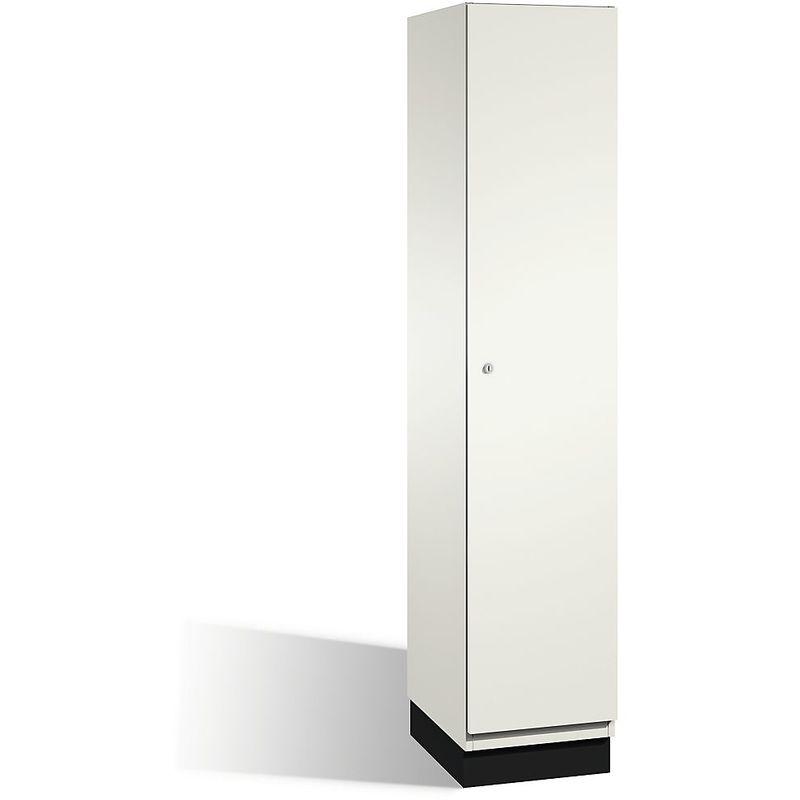 CP Vestiaire CAMBIO avec portes en acier - 1 compartiment, largeur 400 mm - corps blanc pur/porte blanc pur - Coloris corps: blanc pur RAL 9010