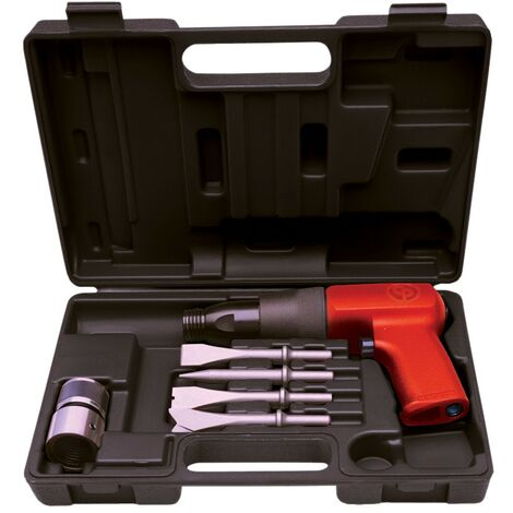 CP7110 RED. VIBRATION AIR HAMMER KIT C/W 4 CHISELS
