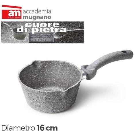 CPCNC16 Cacerola cónica antiadherente 16 cm de 1 mango CUORE DI PIETRA