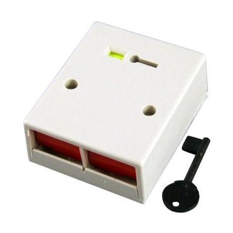 Cqr PADP2/WH/G1 Panic Double button + key personal attack - Grade 1 - white