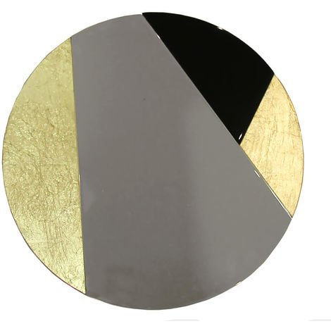 Cracked Gold & Foil Mirror
