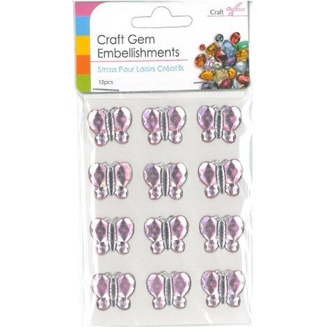 Craft Adhesive Gem Embellishment Butterflies