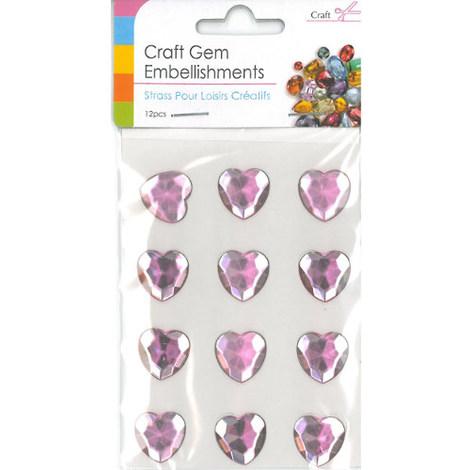 Craft Adhesive Gem Embellishment Hearts