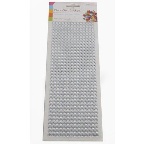 Craft Adhesive Gem Embellishments Pack of 504 Clear
