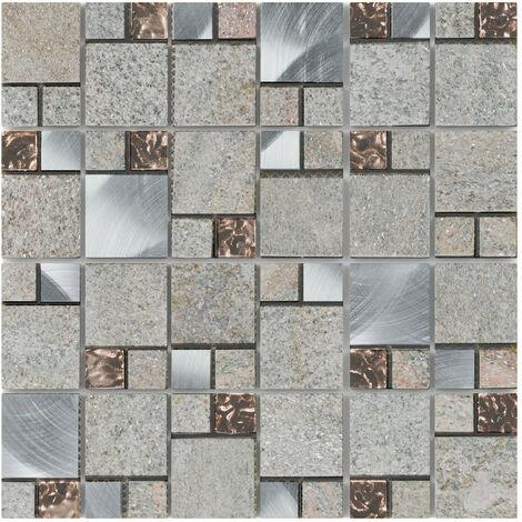 Craft Meteor Rose 30cm x 30cm Mosaic Tile Sheet