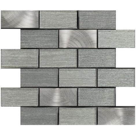 Craft Portland Brown Brick 35cm x 30cm Mosaic Tile Sheet
