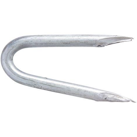 """main image of """"Crampillon acier galvanisé TE. Pointes - Longueur 27 mm - Diamètre 2,7 mm - 1 kg"""""""