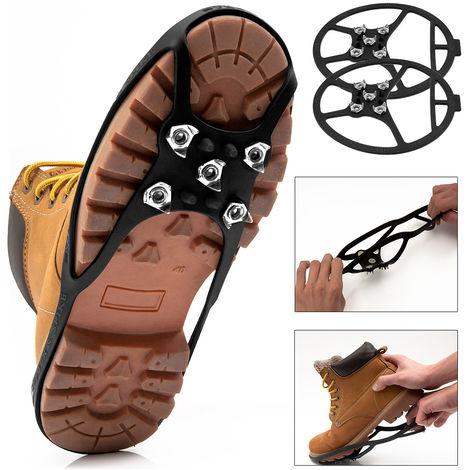 Crampons hiver Pointures 34-39 Pointes chaussures Sécurité pour Neige Glace