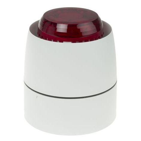 Cranford Controls 623-6665 Beacon / siren combination LED Flash series Combi 32, Red Lens