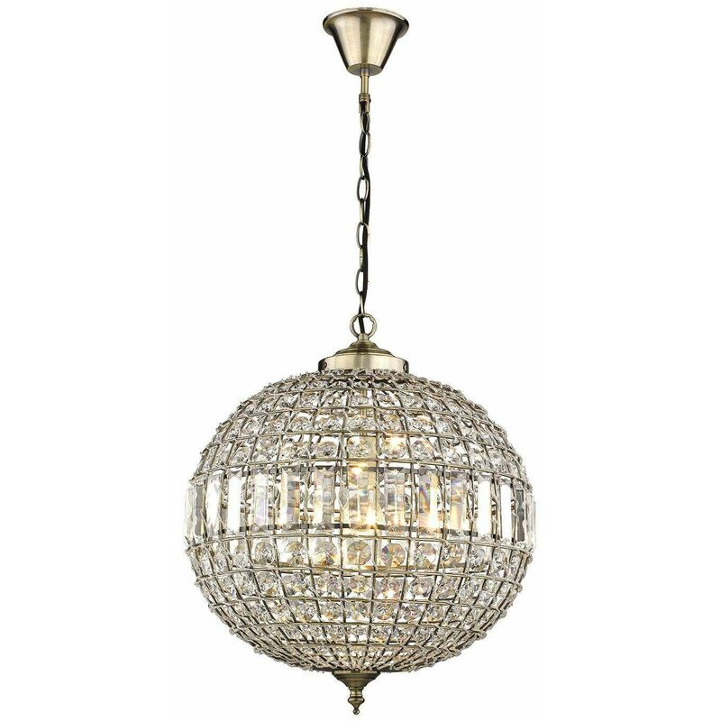 Image of CRAVEN ARMS Antique Brass Chandelier 1 Lights