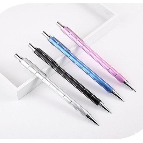 Crayon automatique de actif en métal de 3 PCS 0.5mm, livraison aléatoire de couleur