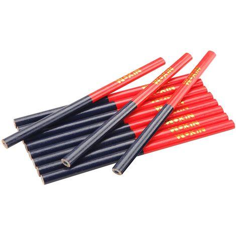 Crayon de charpentier 2 couleurs rouge et bleu