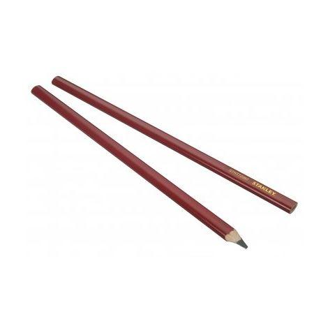 Crayon de charpentier rouge 300 mm STANLEY