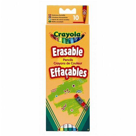 Crayons de couleur par 10 effaçables