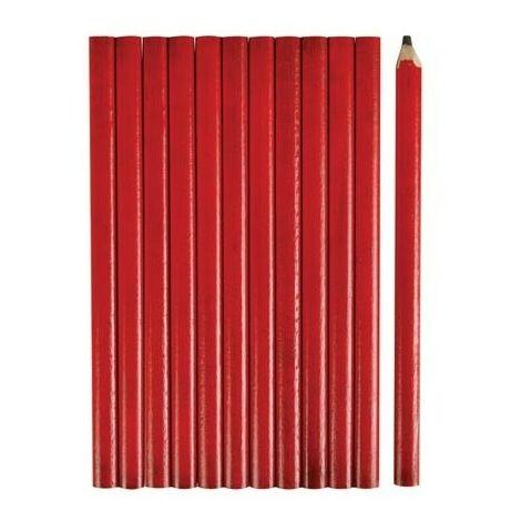Crayons de menuisier 175 mm (12 pcs)