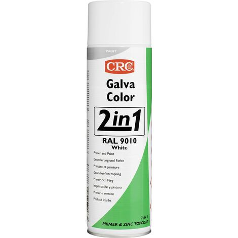 Peinture anti-corrosion GALVACOLOR à double effet blanc pur RAL 9010 CRC GALVACOLOR 20587-AA 500 ml S000221