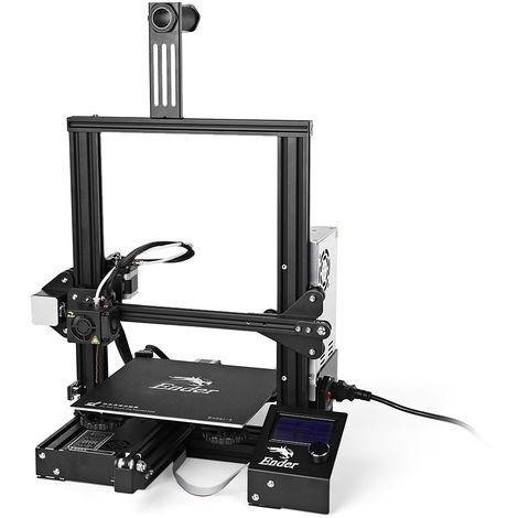 Creality3D Ender - 3, imprimante 3D haute précision, écran LCD avec cadre en acier
