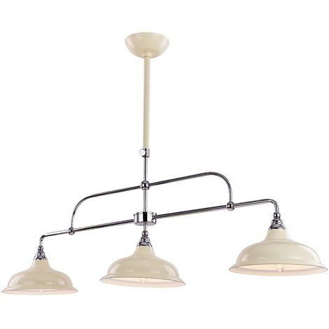 Cream And Chrome Ceiling Light Ing With Adjule Telescopic Arm By Hy Homewares