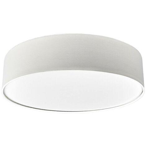 Cream-coloured fabric LED ceiling light Sebatin