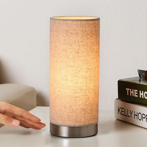 Cream-coloured fabric table lamp Ronja
