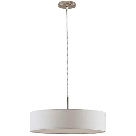 Cream-coloured Sebatin fabric LED pendant light
