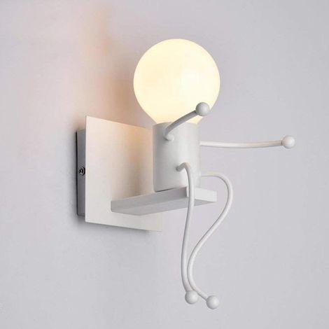 Creatifs Applique Murale Retro Fer Vintage Lampe Murale Moderne