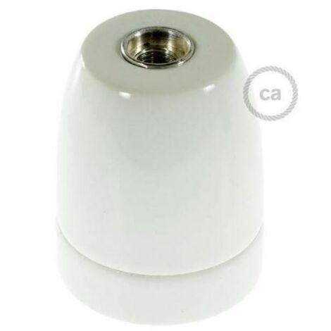 Creative-cables italia porcelain lampholder e27 white 25995