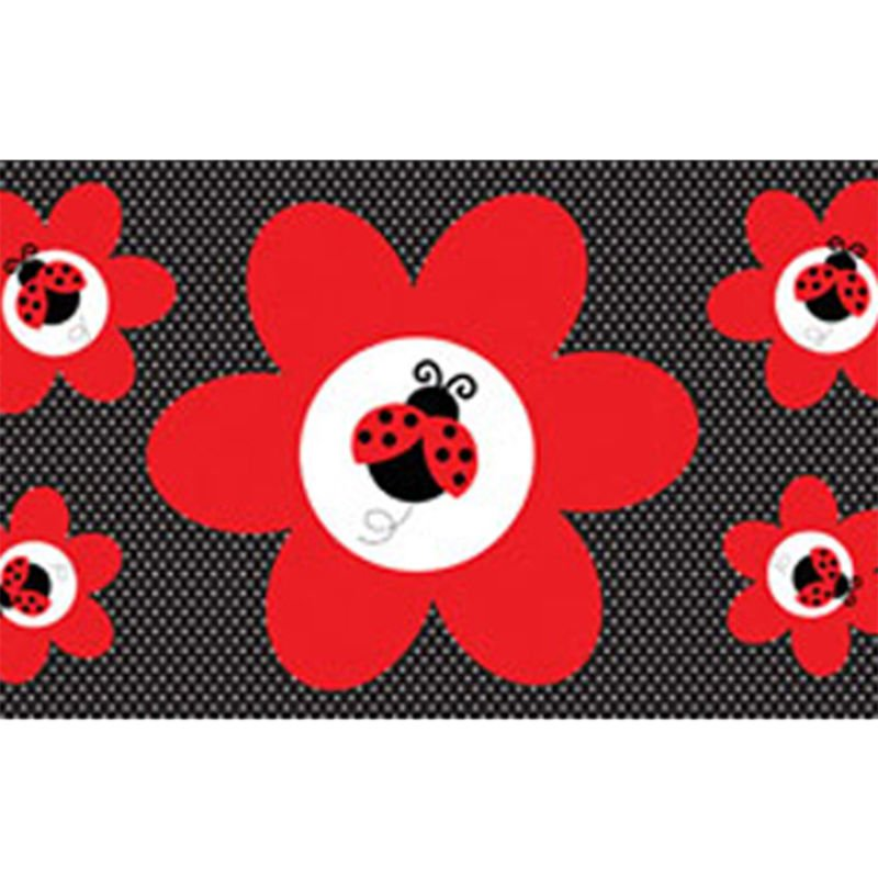 Image of Creative Converting Ladybug Fancy Giant Party Banner (One Size) (Red/Black)