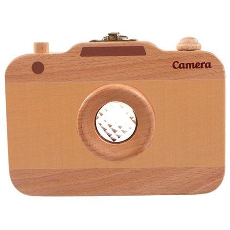 Creative enfants en bois caméra caduc boîte de conservation des dents bébé rangement maison la dent