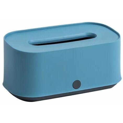 Creative Handkerchief Box Living Room Table Coffee Table Drawer Box Household Towel Box Box Paper Box Storage Box Roller Paper Box, Blue