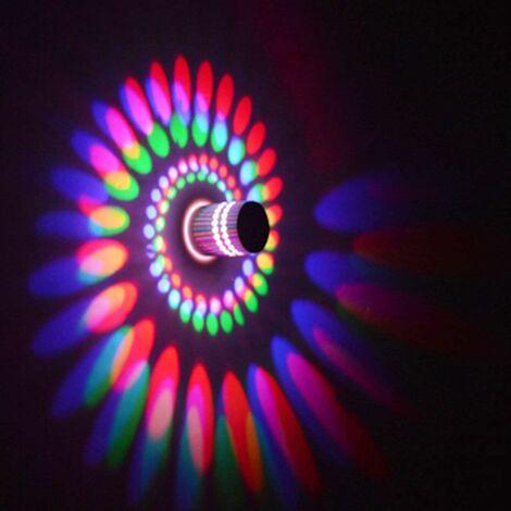Creative Spiral Ceiling Light Round Modern Chandelier LED Simple Wall Light for KTV Cafe Living room 3w Multicoloured Light