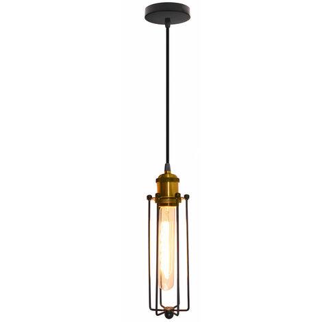 Creative Strip Pendant Light Retro Industrial Style Hanging Light Vintage Classic Ceiling Light for Cafe Loft Bar Bedroom