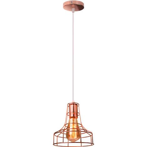 Creative Vintage Chandelier Industrial Pendant Light Retro Metal Hanging Lamp for Living Room Kitchen Home Decoration Rose Gold