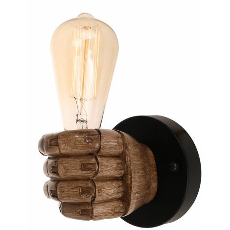 """main image of """"Creative Wall Light Industrial Hand Fist Shaped Wall Lamp Sconce for Bedroom Living Room (Left)"""""""