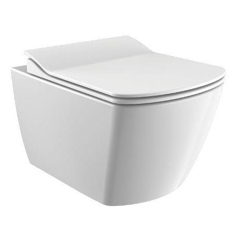 Creavit ELEGANT Wand-WC spülrandlos mit Bidetfunktion und WC-Sitz