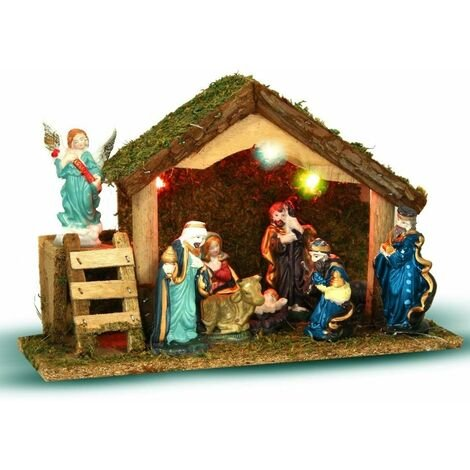 Crèche de Noël Lumineuse 8 santons
