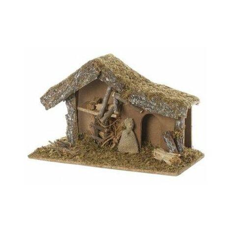 Crèche de Noël vide - L 38.5 cm x l 18 cm - Bois - Livraison gratuite