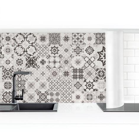 Crédence adhésive - Ceramic Tiles Agadir Gray Dimension: 50x300cm Matériel: Magnétique