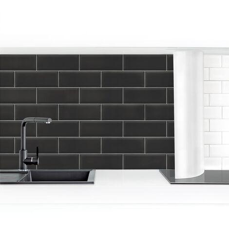 Crédence adhésive - Ceramic Tiles Black