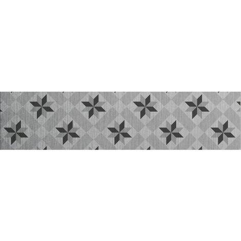 Crédence adhésive en aluminium Carreaux - L. 20 x l. 90 cm - Gris - Gris