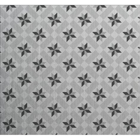 Crédence adhésive en aluminium Carreaux - L. 70 x l. 60 cm - Gris - Gris