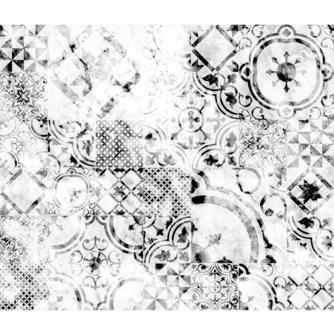 Crédence adhésive en aluminium imitation Marbre - Blanc