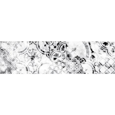 Crédence adhésive en aluminium imitation Métal - Noir