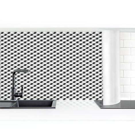 Crédence adhésive - Geometric Tiles Mix Cube Black