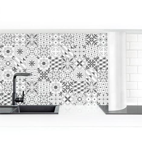 Crédence adhésive - Geometric Tiles Mix Gray Dimension: 50x50cm Matériel: Smart
